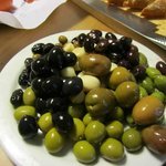 Olives as one of the appetizers