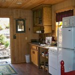 Kitchen in Treetop Cabin. Adequate and spacious.