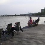  Fishing off the private jetty