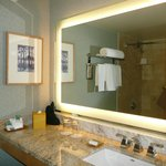  Nice vanity area in bathroom.