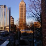 View from balcony above W. Peachtree Street