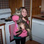 Zoe & Tom the cat!