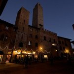 San Gimignano Christmas lights