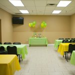 Party Room available for parties, meetings, or any other event!