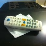 tv remote did not work! Very Greecy and dirty, hold it by tissue!!