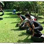Getting fit with fun tyre team games