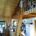 inside our cabin ... access to the loft is by ladder