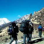 Trekkers in the Annapurna Region