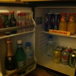 Fully stocked mini bar