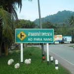  Sign to Ao Nang about 50m to main Road