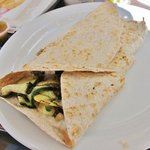 Grilled vegetables quesadilla with whole wheat