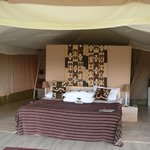  Inside view of the tent