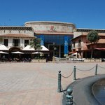  View of the square in front of the otel housing restaurants, casino, theatre and shops.