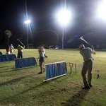  The lighted driving range at night