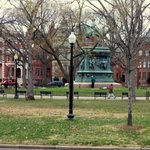 Logan circle viewed from front of house.