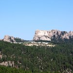 View of Mount Rushmore from Iron Mountain Road
