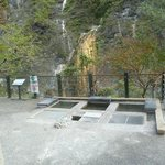 the end of the guided tour -the 6 mini hot spring