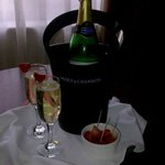 Sparkling wine on arrival