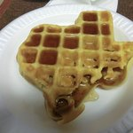  waffle in shape of Texas