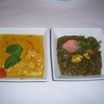 Chicken Korma and Saag Paneer