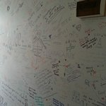  Wall that is filled up by all the guests that have stayed in AQ