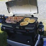 Tail-gate breakfast....
