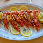 Grilled Fresh Whole Prawns.