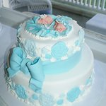 amazing twin baby shower cake!