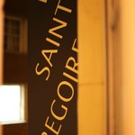  The hotel sign Le Saint Gregoire