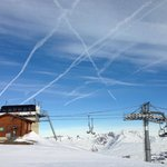 One of the chair lifts in La Plagne