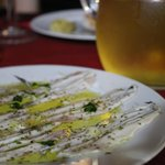Anchovies w oil, Domenic's wine from the vineyard AKA the fr