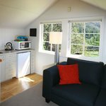 The Retreat lounge and kitchenette