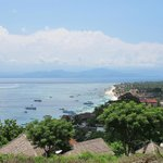 View of Mainbeach Lembongan on a Bikeride