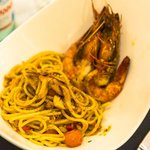                    Spaghetti with King Prawn