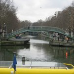 Swing Bridge, Saint Matin Canal , Paris