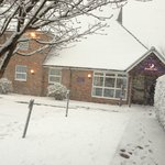  Snow day at Port Solent East Premier Inn