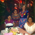 Dinner with the women from Mayan Conservancy