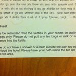  Not sure how stupid the average customer here is but &#39;Dont take a bath outside the bath&#39;??? real