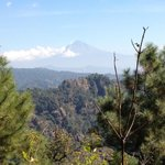 Popocatepetl viewed from national forest trail