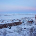  View of Kiruna and the moutain range beyond from room #402