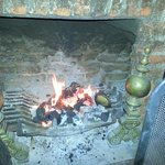                    One of three fires in bar reception area
