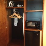 Somewhat small closet but enough for short stay