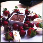 belgian chocolate and nougat platter…