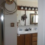 Shower and side by side sinks