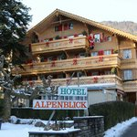 Hotel Alpenblick in the Winter