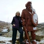 When you see the giant highlander, yoou know you've arrived