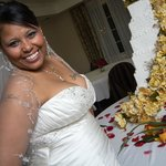 bride at her reception
