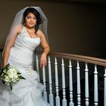 bride overlooking 2nd floor balcony