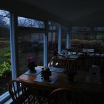 Breakfast in the conservatory early in the morning