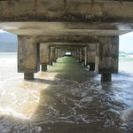  underside of pier
